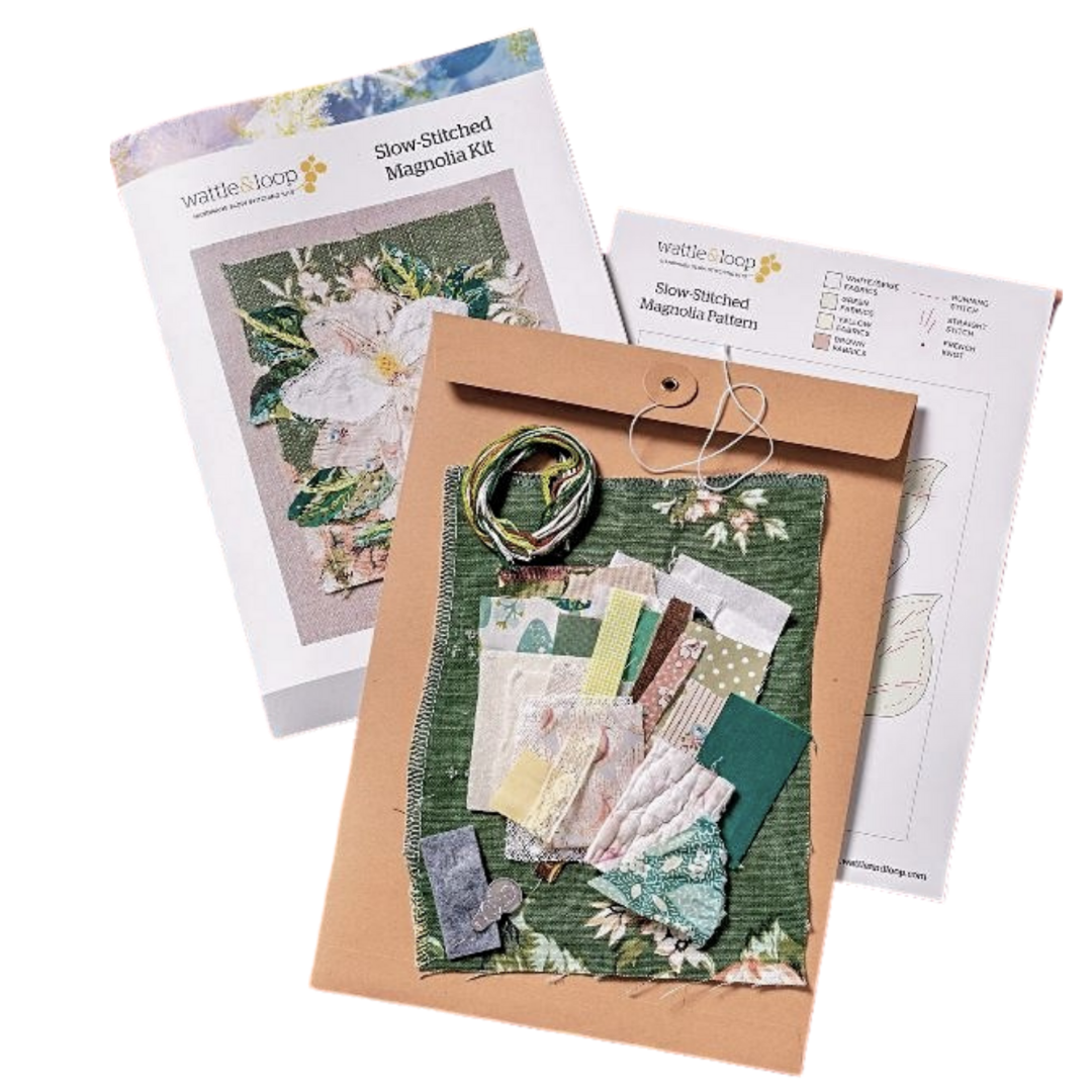 hand stitched create your own masterpiece sewing kit