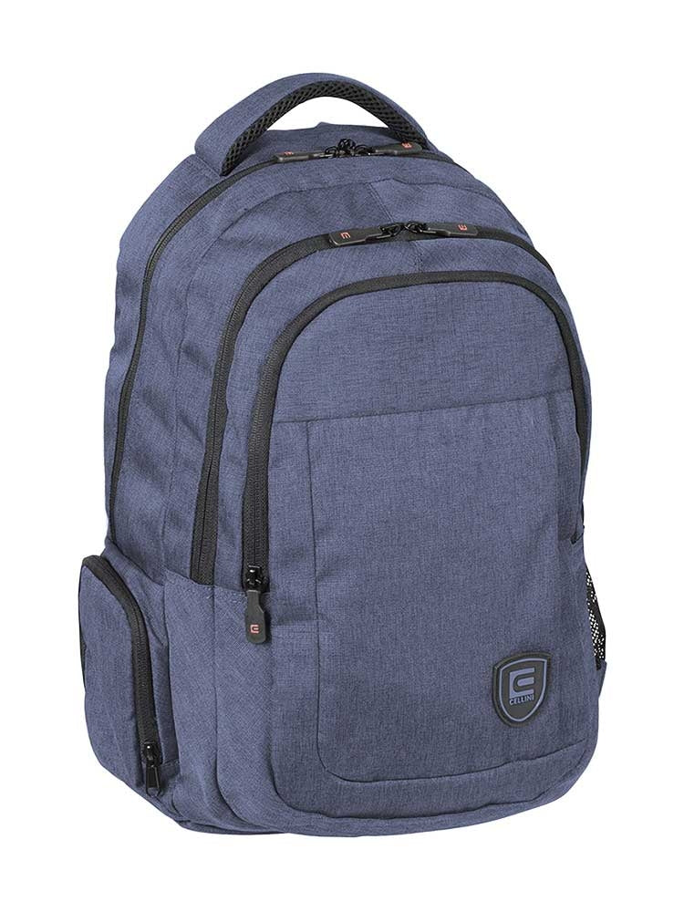 Cellini King Multi-Pocket College Backpack - Yale Blue