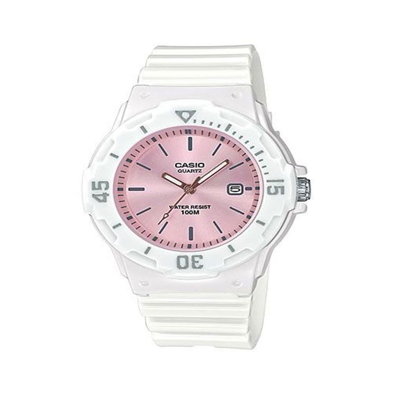 Casio Youth Quartz 100M Pink Dial Female Sports Watch LRW-200H-4E3V
