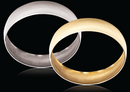 9ct White gold C-Shape 12mm Gold bangles 18.32g