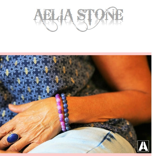 Aelia stone Tigers eye and Turquoise bracelet