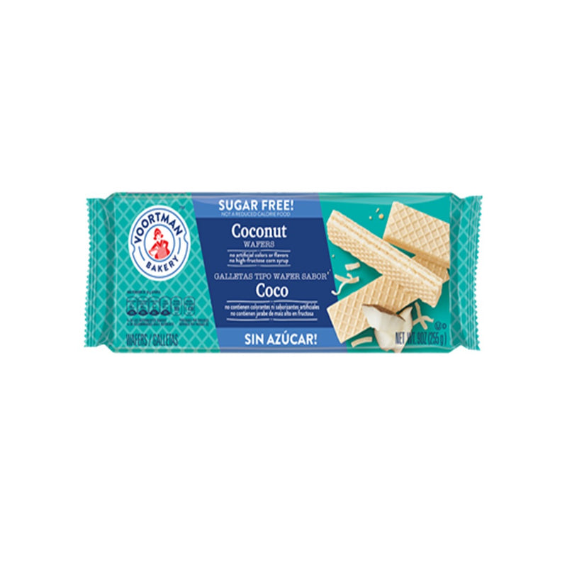 Imported Voortman Sugar Free Wafers from Canada - Coconut