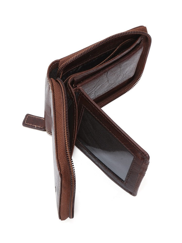 Polo Hamilton gents zip around wallet  - Brown