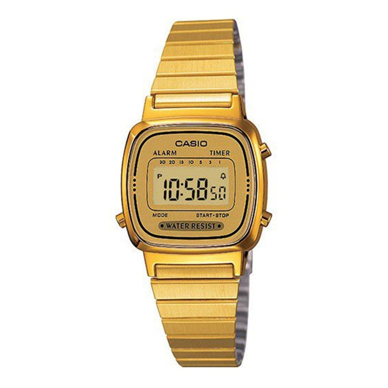 Casio Ladies Retro Digital Watch LA670WGA-9DF