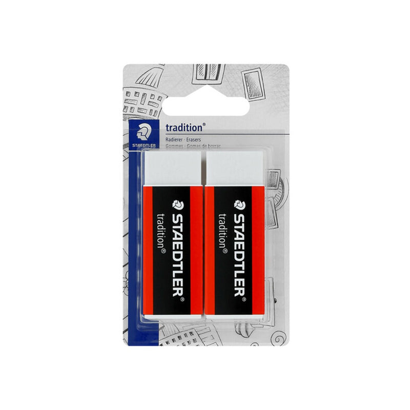Staedtler Tradition PVC Erasers 2-Pack