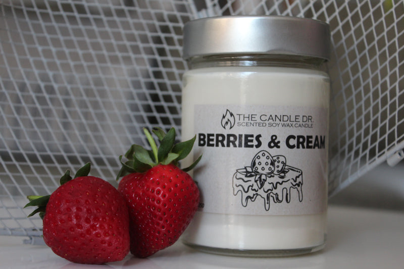 Scented Candle - Berries & Cream 250g