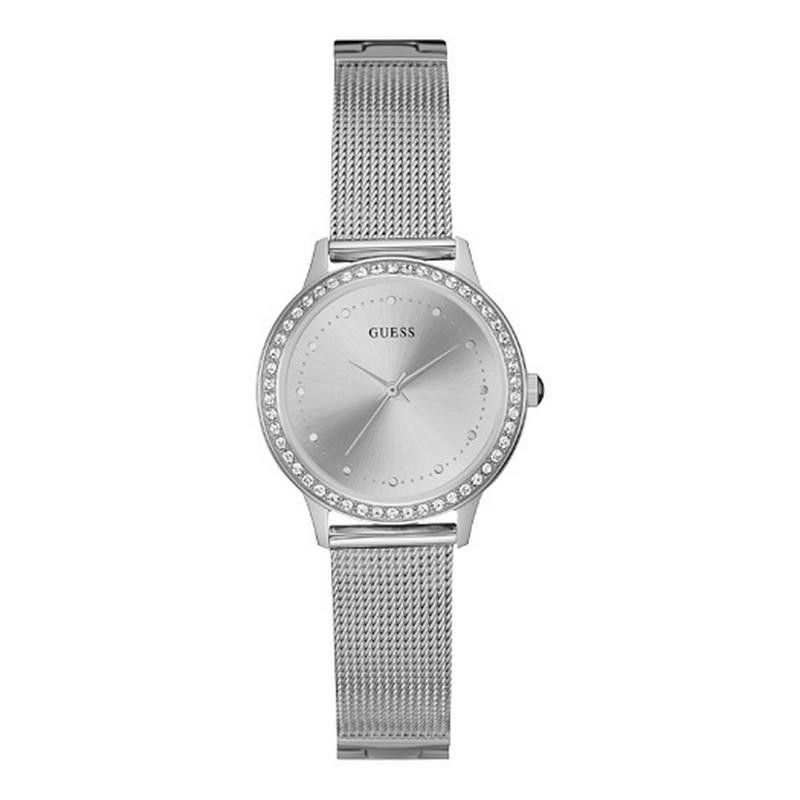 Guess Chelsea Ladies Dress Silver Analog Watch - W0647L6