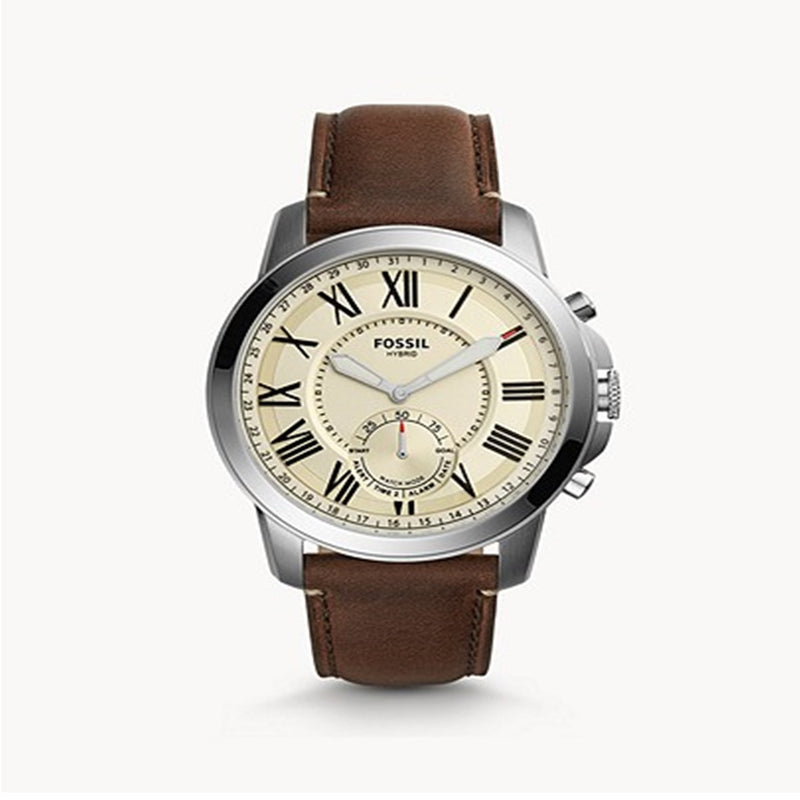 Fossil Hybrid Smartwatch Grant Dark Brown Leather - FTW1118