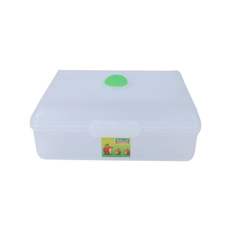 Plastic hinged lunch box