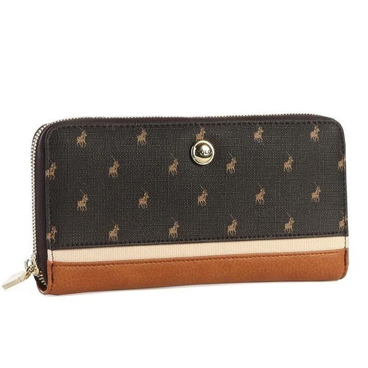 Polo Heritage zip around purse - Brown
