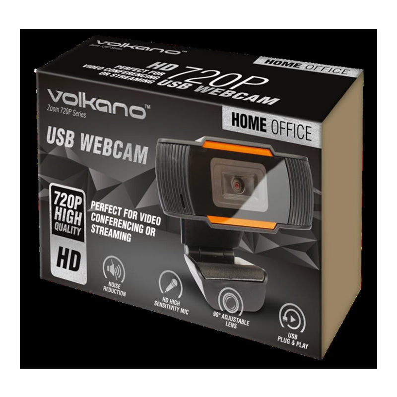 Volkano Webcam VK 10101 BK 720p HD
