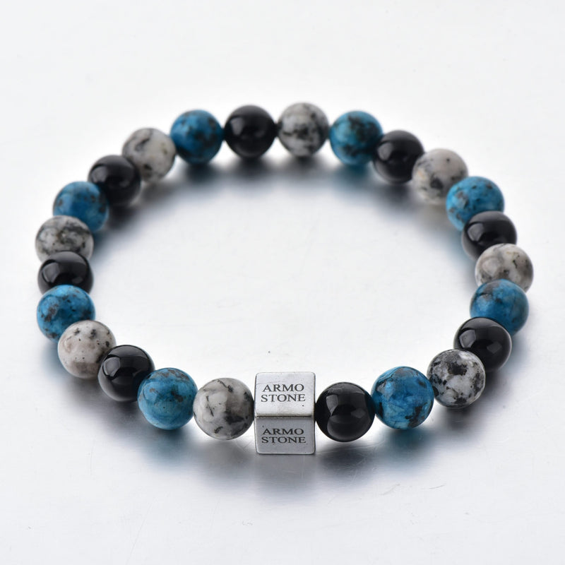 Blue and Grey Agate with Onyx Stones