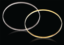 18ct Yellow gold D-Shape 3mm Gold bangles 4.81g
