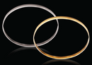 9ct Yellow gold D-Shape 4mm Gold bangles 6.74g