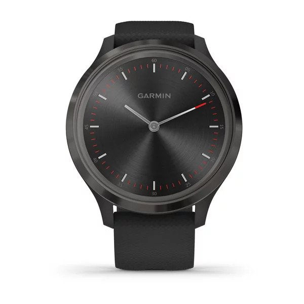 vívomove® 3 Black Silicone with Slate Hardware