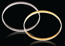 9ct White gold D-Shape 5mm Gold bangles 8.8g