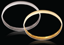 9ct Yellow gold C-Shape 6mm Gold bangles 8.64g