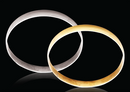 9ct Yellow gold D-Shape 6mm Gold bangles 13.92g