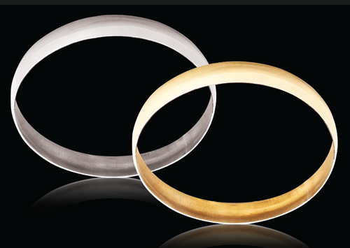 18ct Yellow gold C-Shape 8mm Gold bangles 12.03g