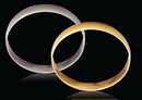 9ct Yellow gold D-Shape 8mm Gold bangles 14.30g