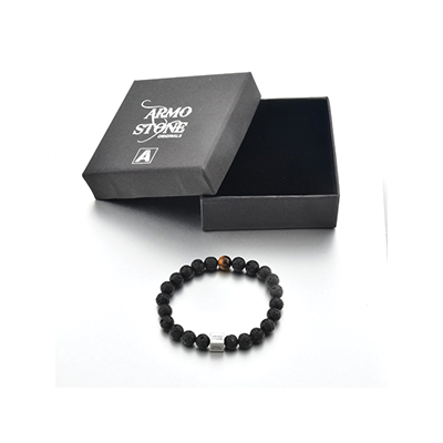 Armo 1 Tigers Eye and Lava Stones