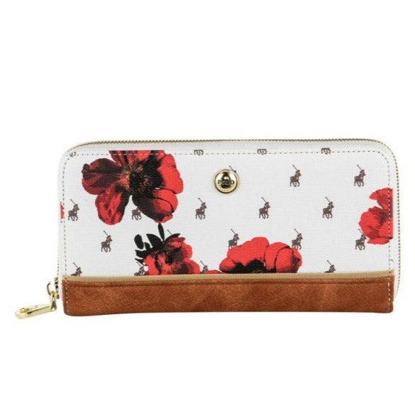 Polo Floral heritage clutch purse