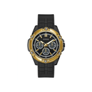 GUESS BLACK CASE BLACK SILICONE WATCH