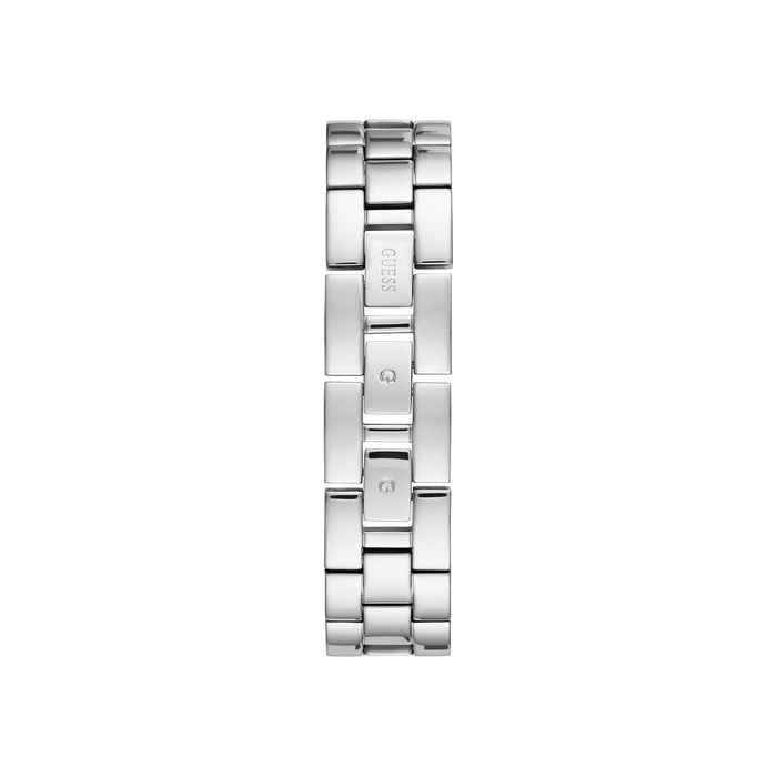 GUESS SILVER TONE CASE SILVER TONE STAINLESS STEEL WATCH