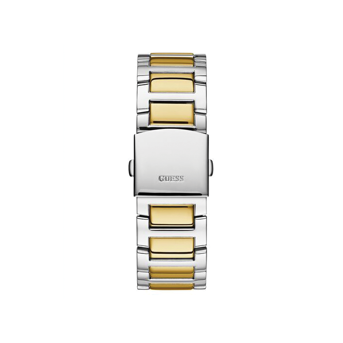 GUESS SILVER TONE/GOLD TONE STAINLESS STEEL WATCH