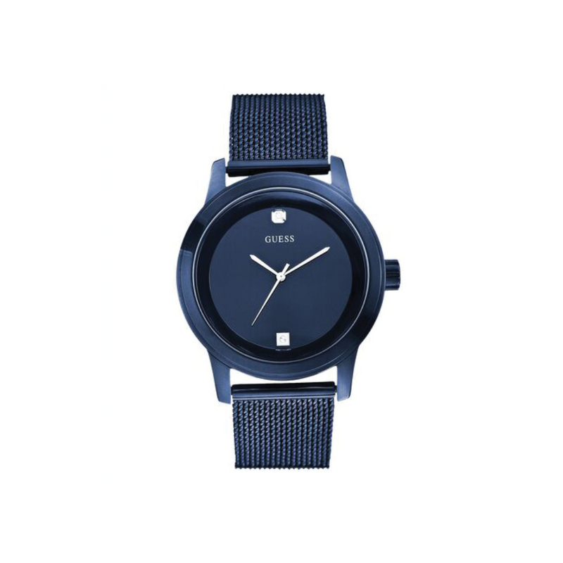 GUESS BLUE CASE BLUE STAINLESS STEEL/MESH WATCH