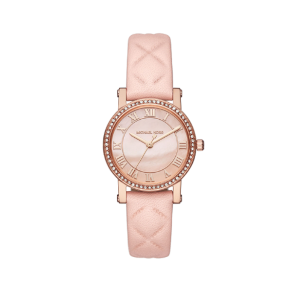 Michael Kors Ladies Petite Norie Mother of Pearl Dial Ladies Watch - MK2683