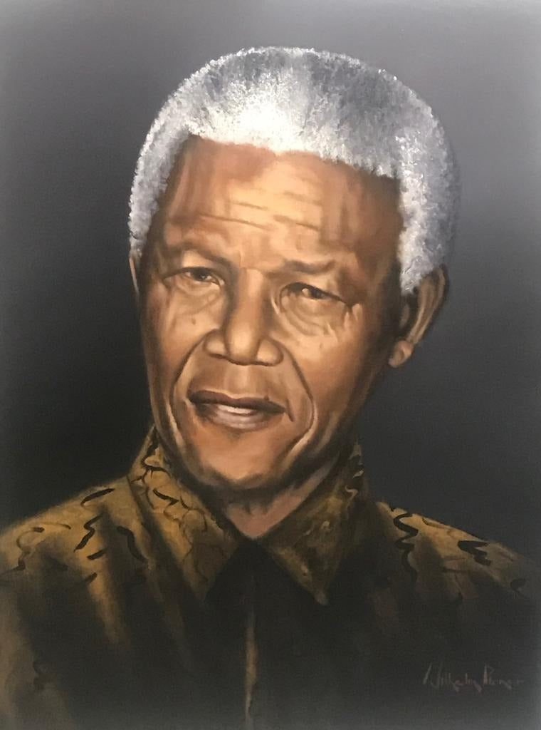 Madiba Portrait - COMMISSIONED PAINTINGS Well known Realism artist with over 5 decades of professional experience Commissioned masterpieces to order: Order online with paintings created from a high quality photograph