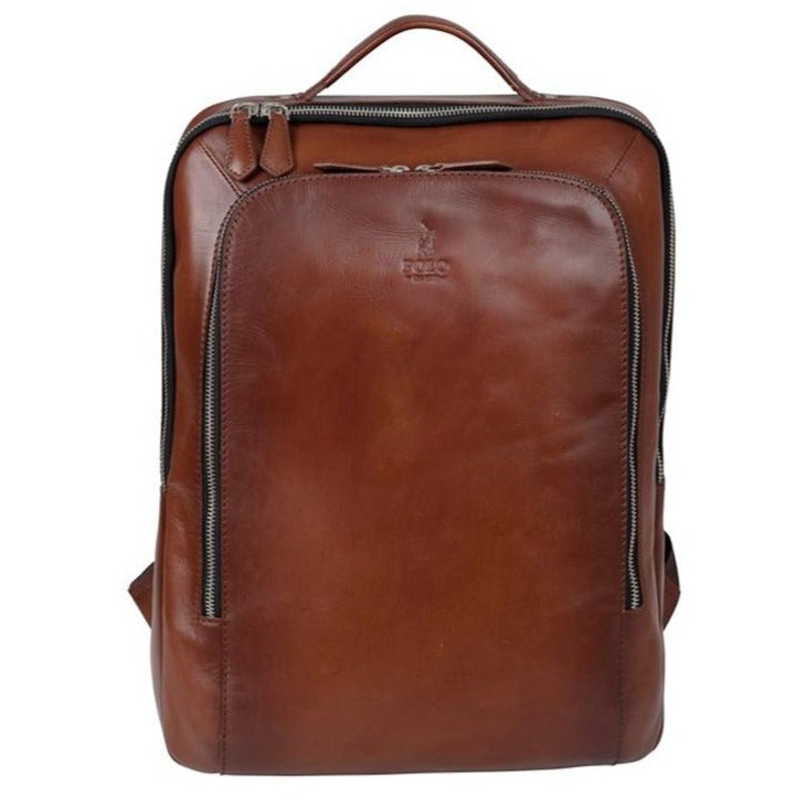 Polo Huson Brown Leather Backpack