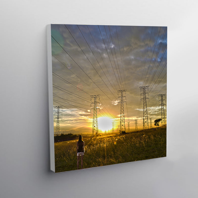 500x500mm Square Premium Stretched Blocked Canvas Prints