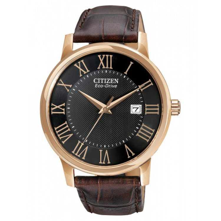 Citizen Eco-Drive Citizen RG Leather Roman Dress Men's watch BM6759-03E