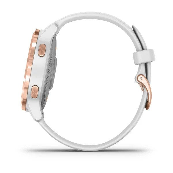 vívoactive® 4S White with Rose-gold Hardware