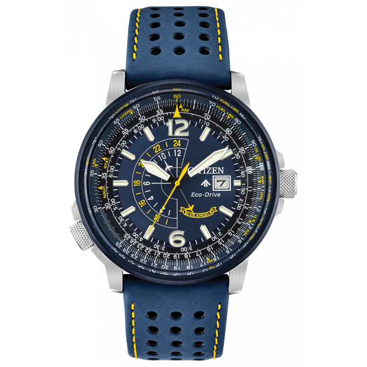 Citizen Blue Angels Promaster Nighthawk Eco-Drive Blue Dial Men's Watch BJ7007-02L