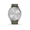 vívomove® Style Silver Aluminum Case with Moss Silicone Band