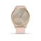 vívomove® Style Light Gold Aluminum Case with Blush Pink Woven Nylon Band