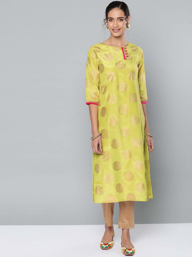 Foil Printed Kurta Set
