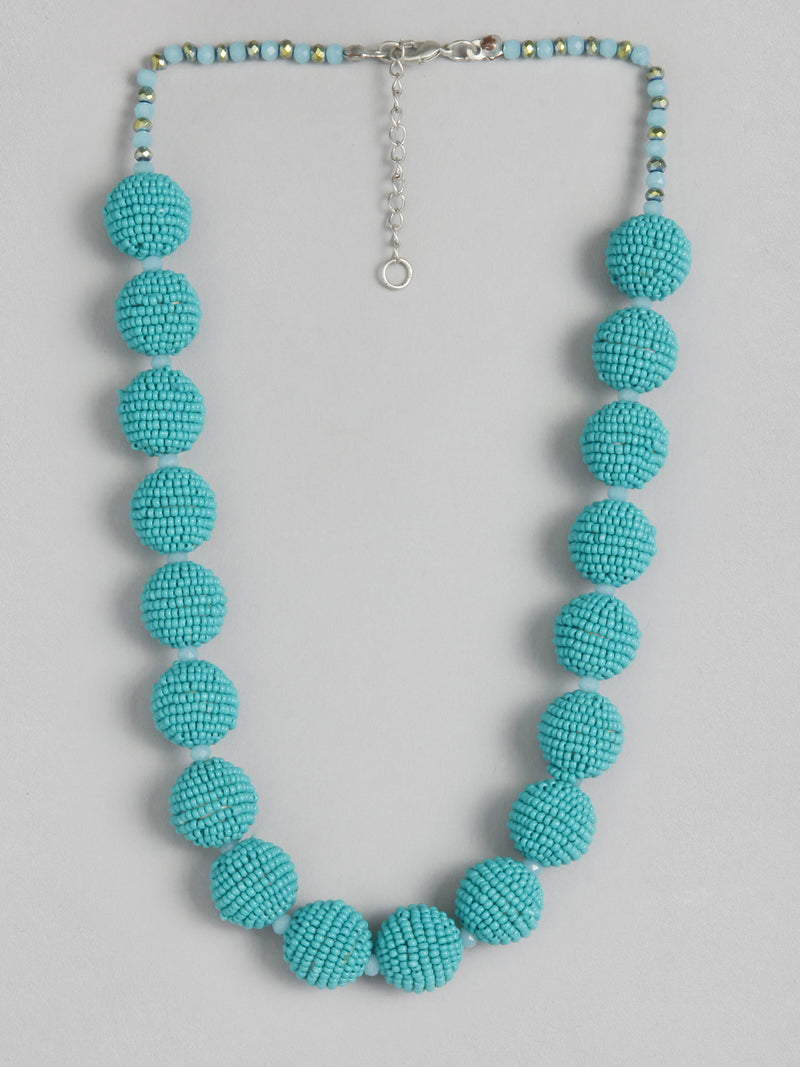 Turq Ball Necklace