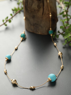Blue Mini Ball Necklace