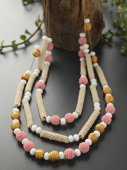 Pastel Ball & Row Necklace