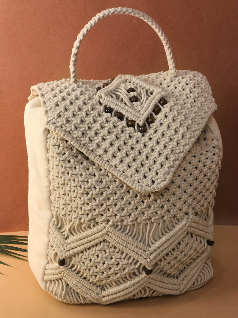 Beaded Crochet Backpack
