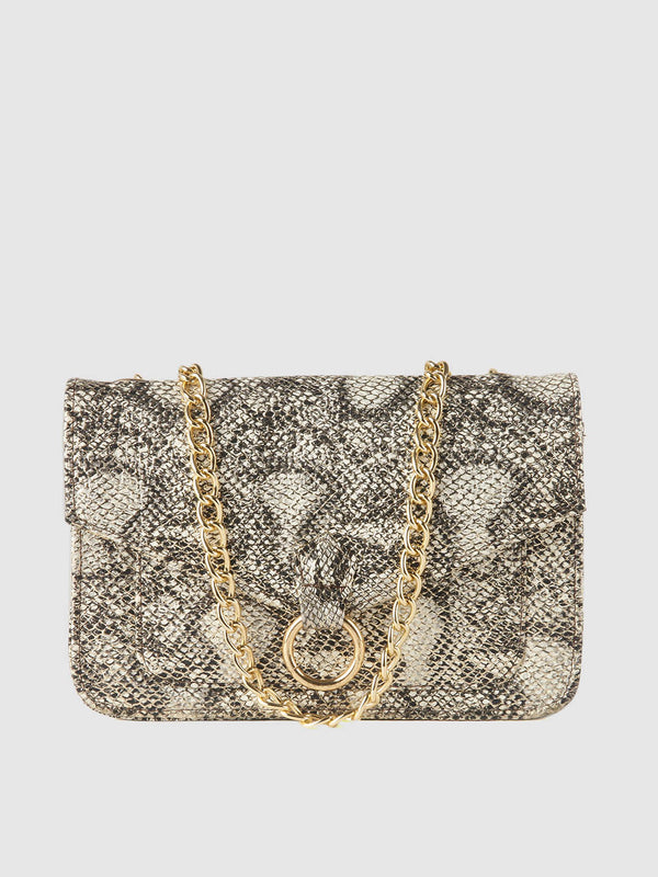 Snake Solid Purse Clutch