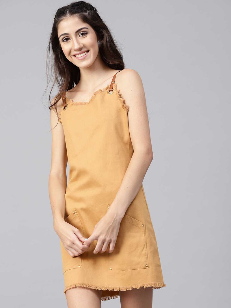 Pinafore Shift Dress