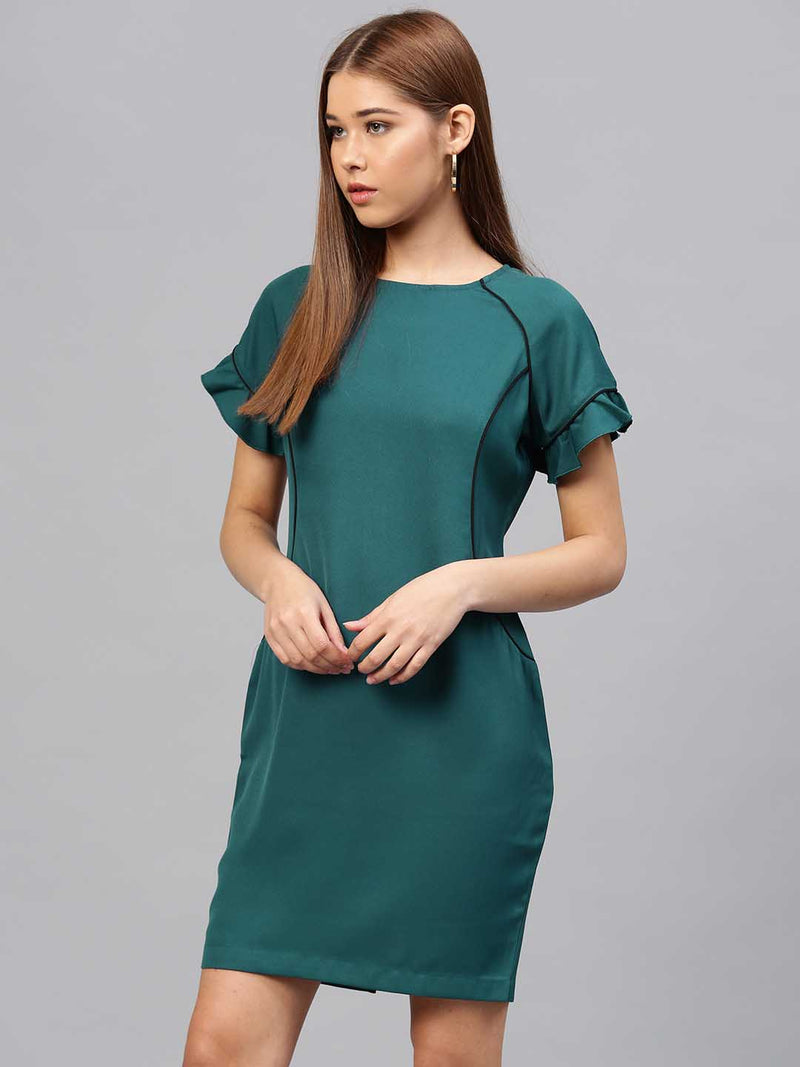 Velvet Satin Fitted Dress