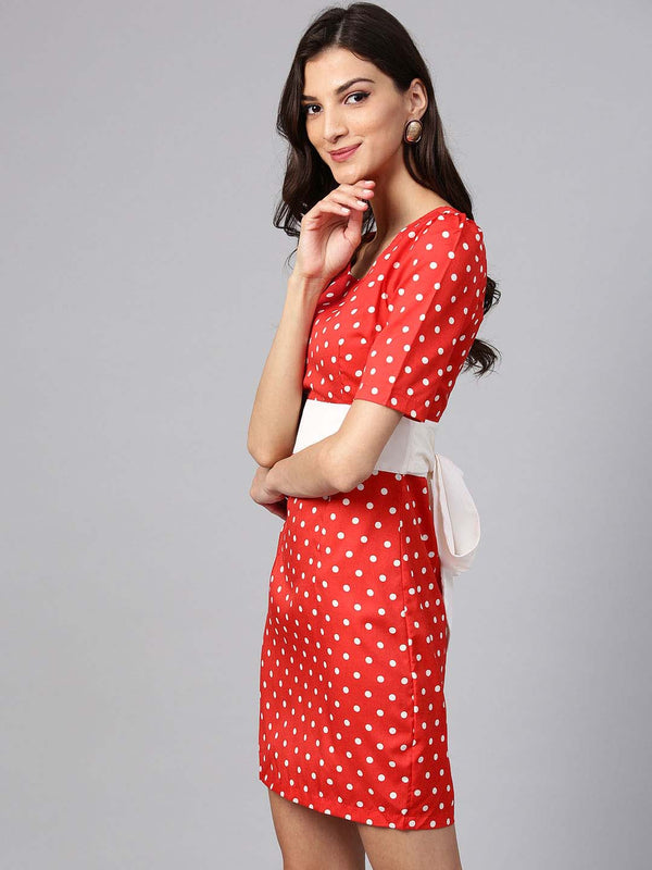 Polka Dot Red Dress
