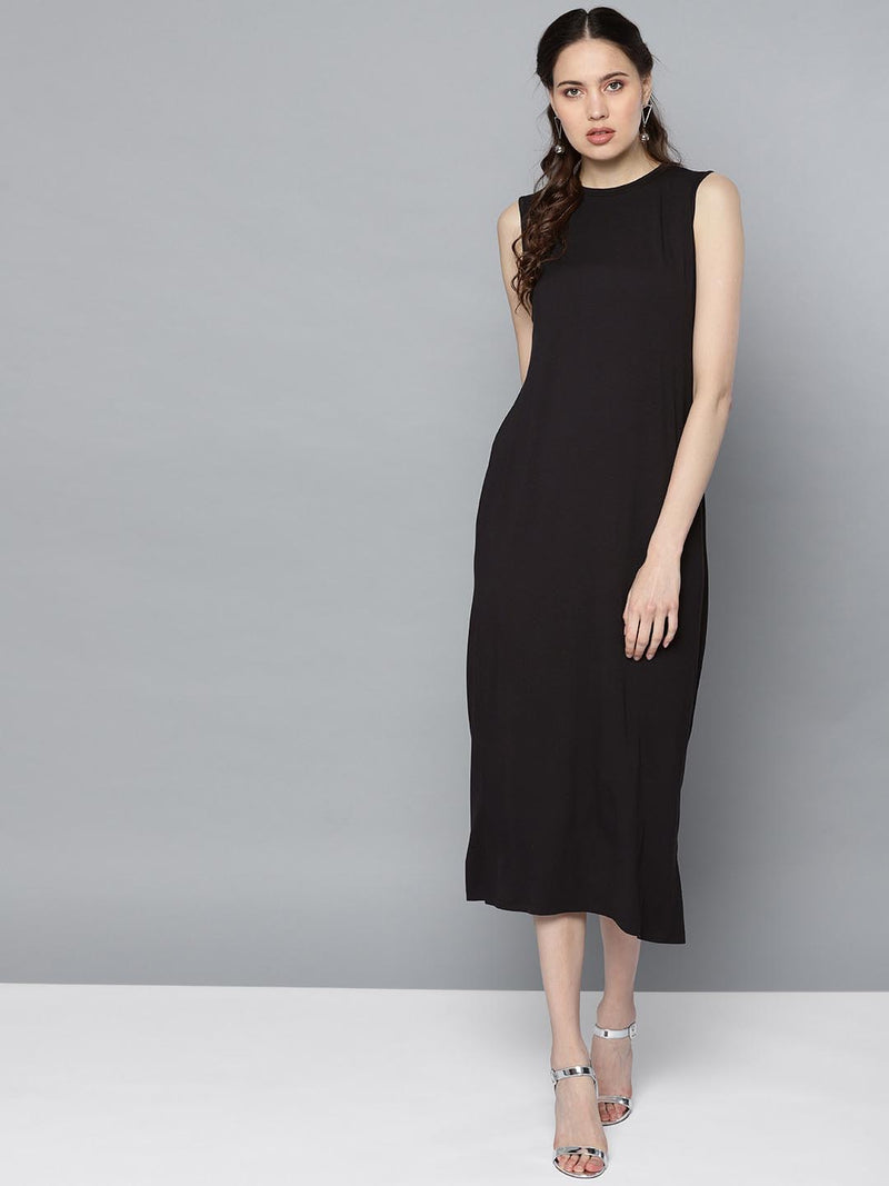Solid Long Dress