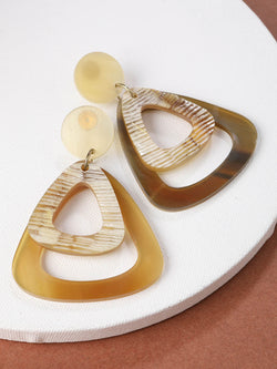 Round Tri Earring